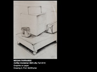 Drawing 3 Coffee Container Still Life