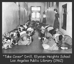 Duck and Cover drill, Elysian Heights School, 1962