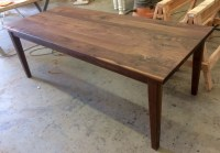 Black Walnut Contemporary Farmhouse Table | KS WoodCraft