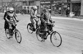 cykeltur i sneen