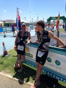 "Brian og Michael ""Vulcano triathlon Lanzarote"""