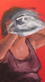 """The Mask Series: The struggle to Find the Self IV 2007 Acrylic on Canvas 50 3/8"""" x 29"""" x 2 1/4"""""""