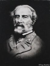 Robert E. Lee, Charcoal Portrait 2014