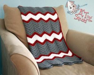 Vintage Chevron Blanket Crochet Pattern