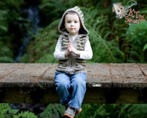 Woodland Hooded Vest crochet pattern by KT and the Squid