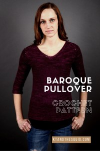 Baroque Crochet pullover pattern by Kt and the Squid