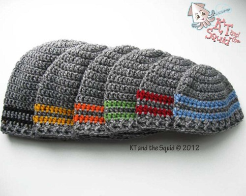 Two Stripe Beanie Free Crochet Pattern | KT and the Squid