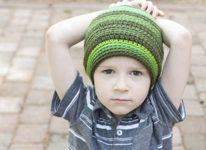 Douglas Crochet Hat Pattern and Premier Gradient DIY Yarn Review | KT and the Squid