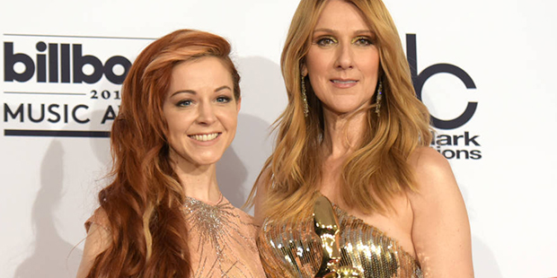 Image result for lindsey stirling and celine dion