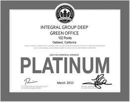Integral - LEED Certificate