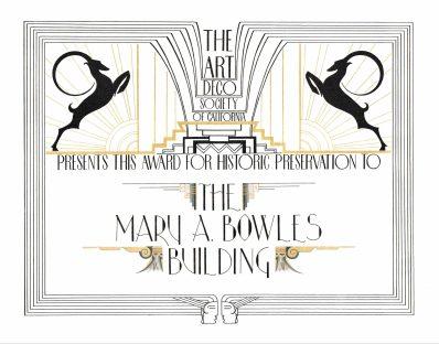 Mary A. Bowles Award