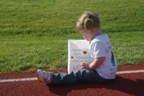 A young Alorah at the 2009 Orange Co. Walk