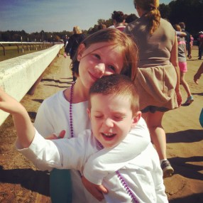 Alorah and Jacob at the Albany County Out of the Darkness Walk at Saratoga Race Course