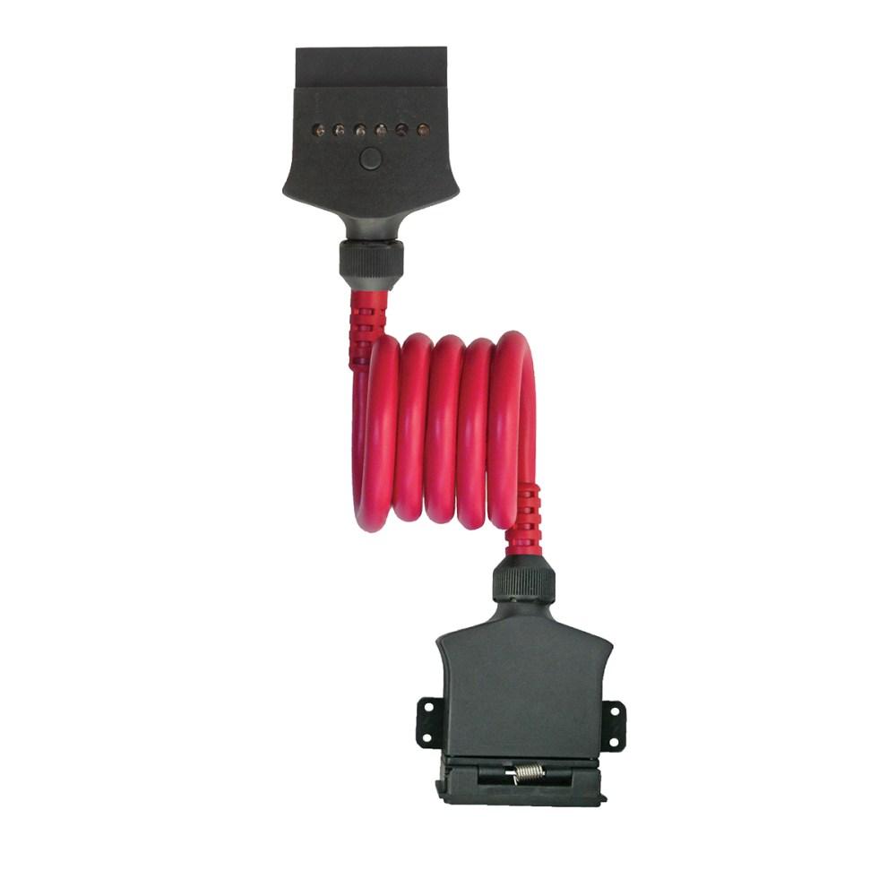 medium resolution of 7 pin flat socket to 7 pin flat plug 1m coil
