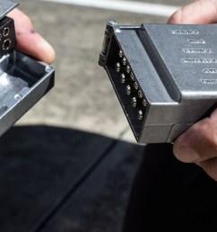 kt world first 12 pin flat metal trailer plug socket [ 3632 x 2277 Pixel ]