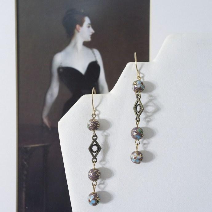 Autumn Flowers earrings - $15 (add $3 for sterling silver earhooks)