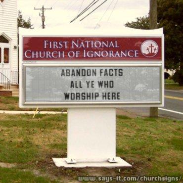 ignorance churchsign
