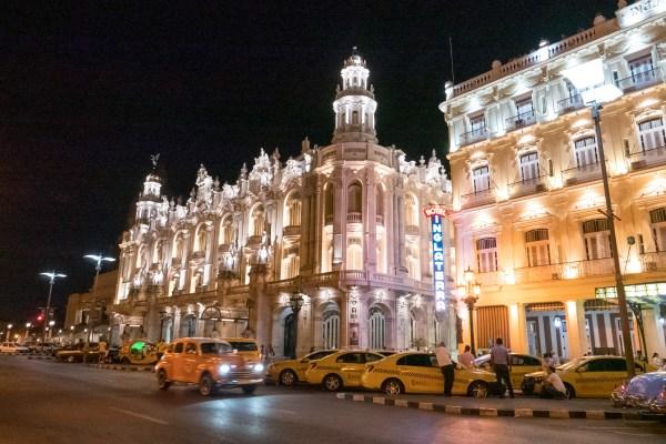 キューバ・ハバナの夜景