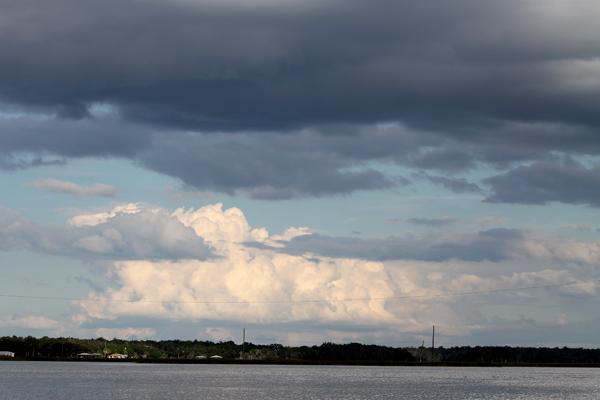 Clouds over Mason creek