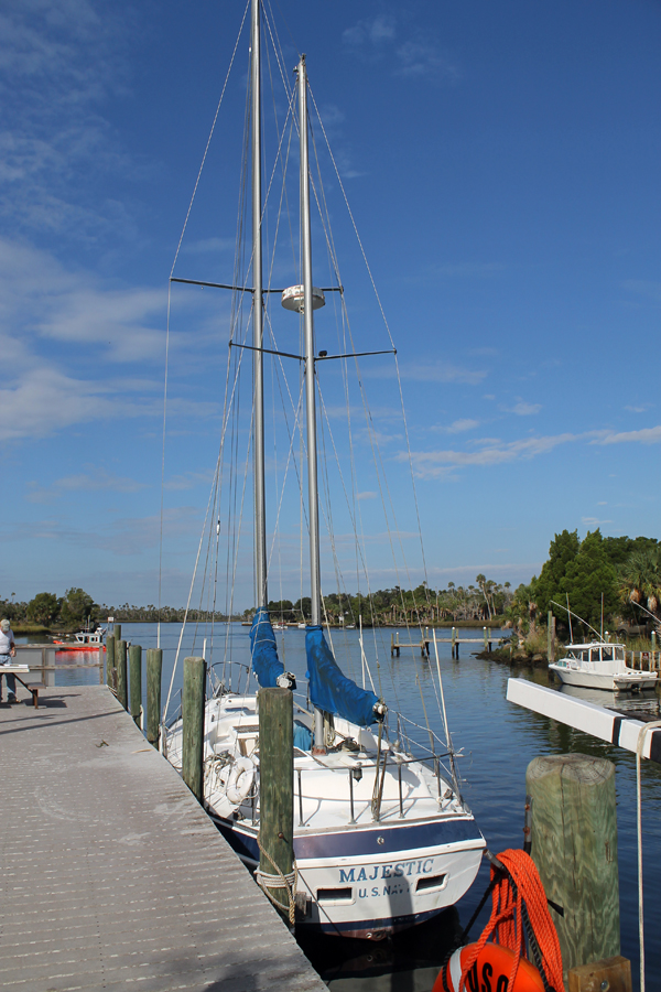 Navy Sailboat at Crystal River Preserve State Park