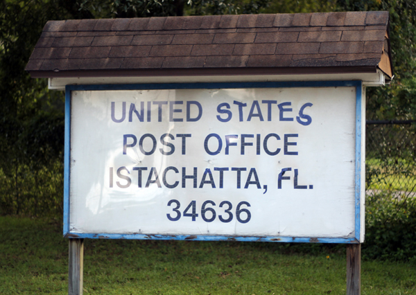 Post Office Sign in Istachatta