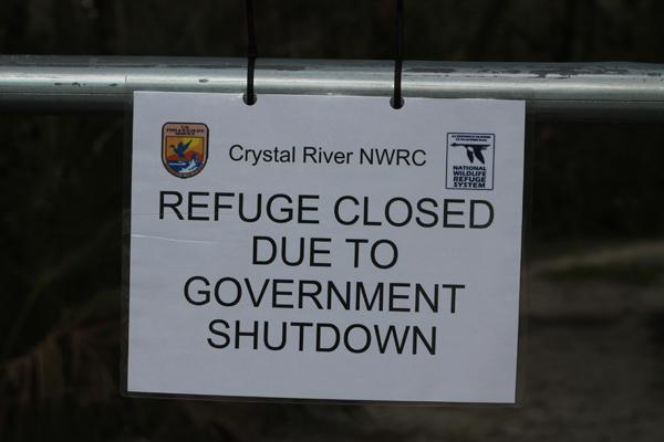 Government shutdown on Salt Marsh trails