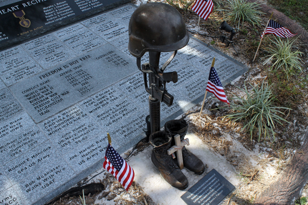 Old Homosassa's Veterans' Memorial at the 2013 Homosassa Seafood, Art, and Crafts Festival