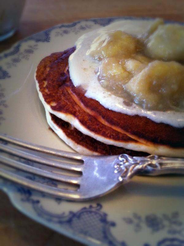 Pancakes with Cognac Sauce