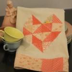 Geo Heart Tea Towel with Moda Charm Packs