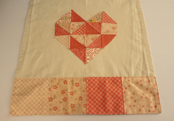 Geo Heart Tea Towel with Moda Charm Packs