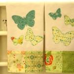 Butterfly tea towel