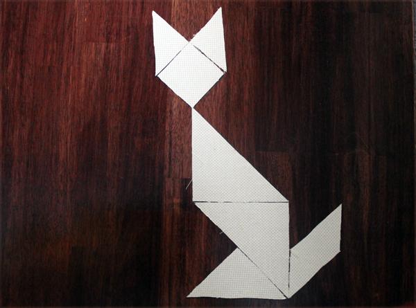 Cat tangram