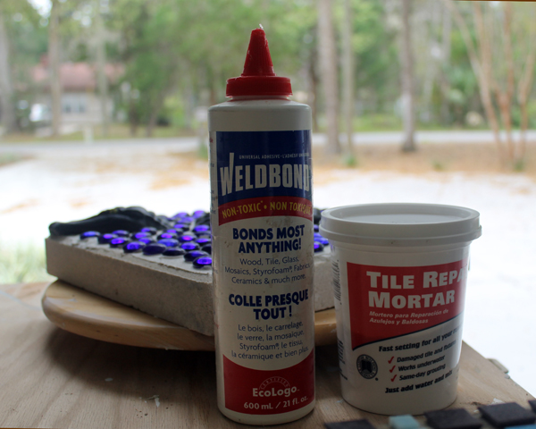 Weldbond and tile repair mortar