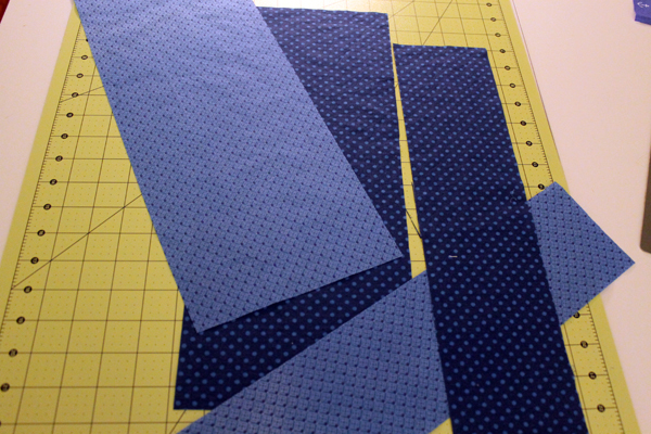 Step 1, cutting strips for color border