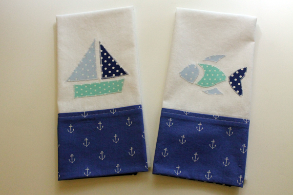 DIY Nautical Tea Towels