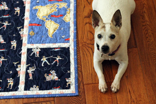"A Quilt for Tyson with Michael Miller ""Out to Sea"" fabric"