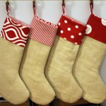 DIY Burlap Christmas Stockings with Premier Prints Fabrics
