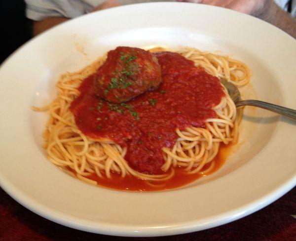 spaghetti at Angelinas