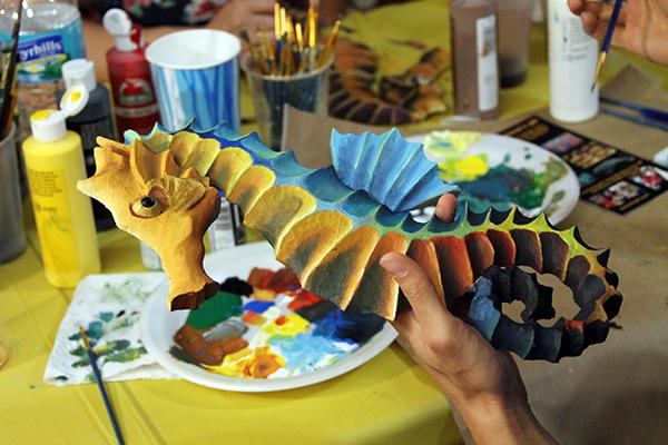 Watson's 3D Paint a Seahorse