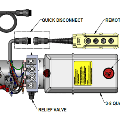 Hydraulic Pump Wiring Diagram Painless Diagrams Installation Instructions 12 Vdc Dual Double Acting Kti