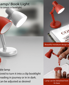 mini table lamp book light e106