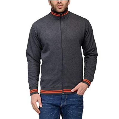 AWG High Neck Sweatshirt Charcoal Grey with Orange Stripes
