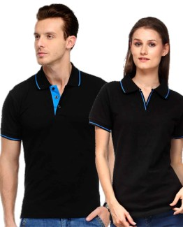 Scott Polo Neck BLACK WITH BLUE TIP