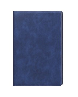 Faux Leather Aqua Blue A4 Notebook