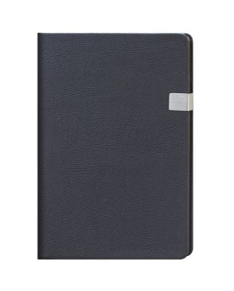 Faux Leather Black A4 Notebook with Clip Latch