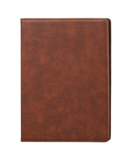Faux Leather Brown A4 Notebook