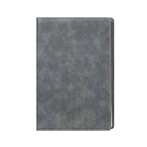 Faux Leather Grey A4 Notebook
