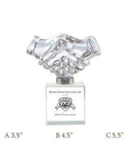Crystal Handshake Block CG 246