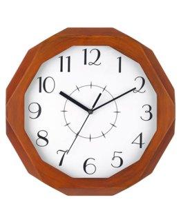 Octagon-Wooden-Analog-Clock