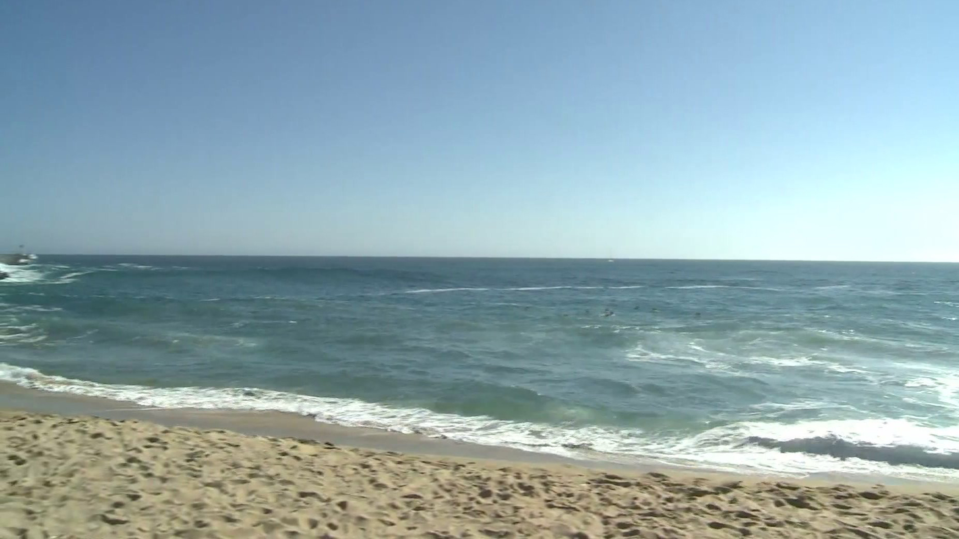 The ocean off of Newport Beach is seen in a file photo. (Credit: KTLA)